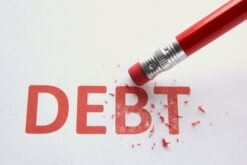 Amount of debt written off by an IVA